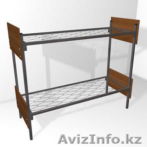Кровати трёхъярусные для времянок, кровати металлические двухъярусные оптом - Изображение #4, Объявление #1436416