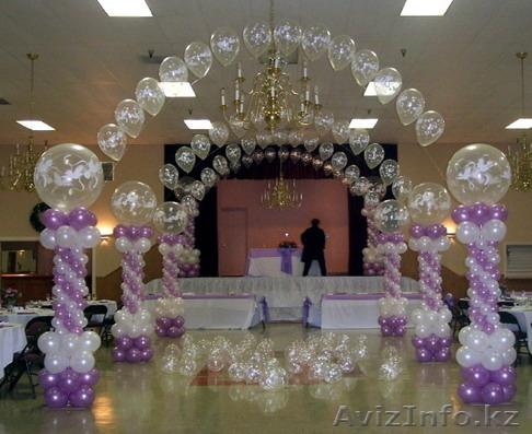 Оформление праздников свадеб шарами