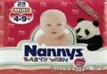 Детские подгузники и влажные салфетки NANNYS