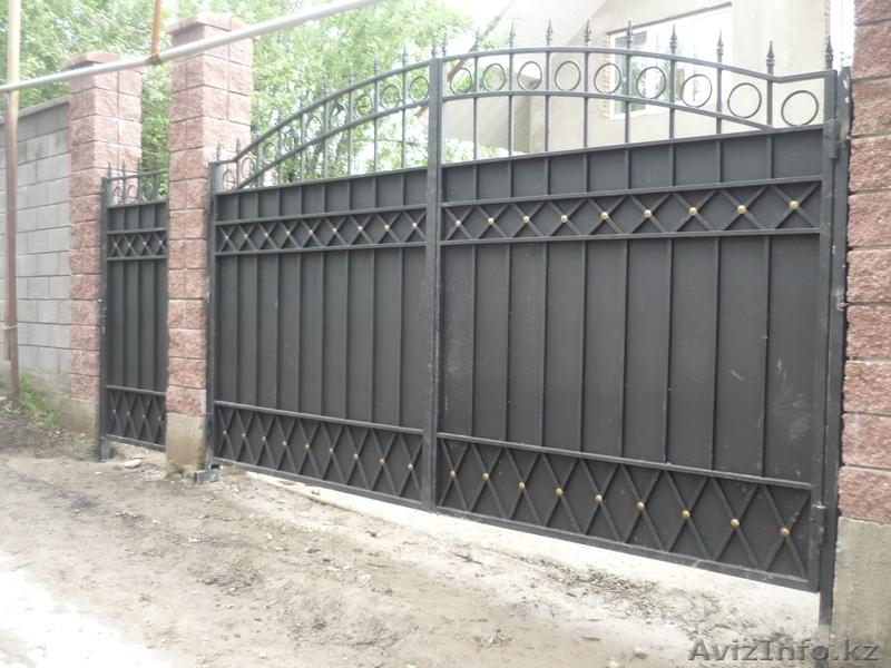 Кованые ворота своими руками чертеж