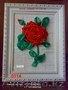 Вышитая объемная Роза и др. цветы