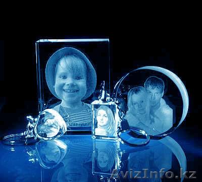 фотография на кристалле 3d