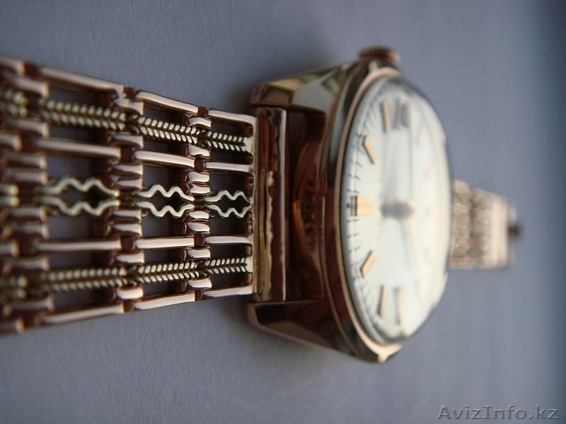 Золотые, антикварные часы Полет 17 | золотые часы