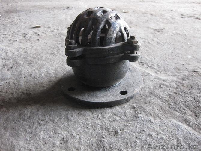 Клапан обратный приемный с сеткой фланцевый чугунный