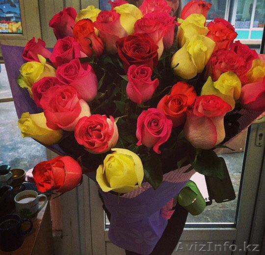 Доставка цветов в алмату купить домашние цветы в одинцово