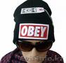 Шапки Obey черные 1000 тенге