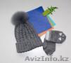 Вязанные , детские шапка и варежки 1, 5-3 года