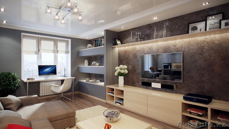 Дизайн стенки с телевизором в гостиной
